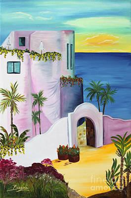 Tropical Painting - Bajas Edge by Christine Baeza