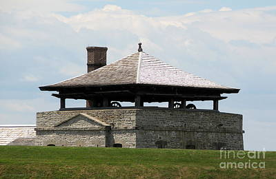 American Flag Photograph - Bake House At Old Fort Niagara by Rose Santuci-Sofranko