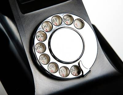 Polymer Photograph - Bakelite Telephone Dial by Cordelia Molloy