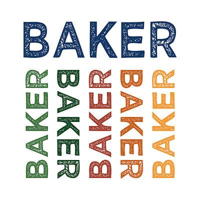 Bakery Digital Art - Baker Cute Colorful by Flo Karp