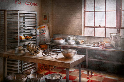 Bread Making Photograph - Baker - Kitchen - The Commercial Bakery  by Mike Savad