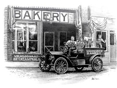 Bakery Drawing - Bakery by Todd Spaur
