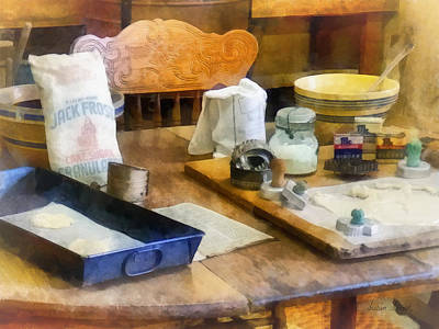 Wooden Bowl Photograph - Baking Cookies by Susan Savad
