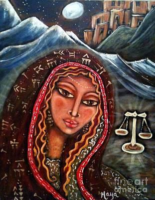 Sacred Feminine Moon Painting - Balance by Maya Telford