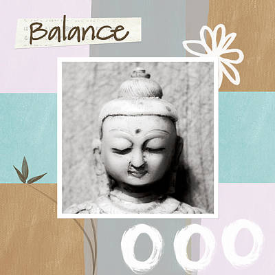 Bamboo Painting - Balance- Zen Art by Linda Woods