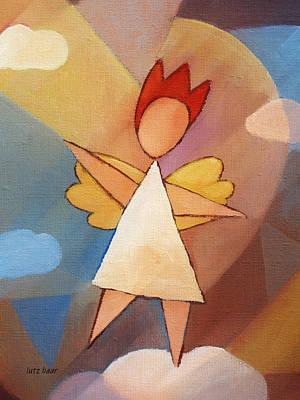 Angel Art Painting - Balancing Angel by Lutz Baar