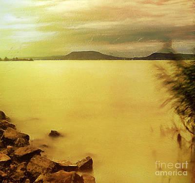 Water Filter Painting - Balaton Landscape by Odon Czintos