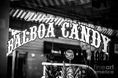 Balboa Candy Sign On Balboa Island Newport Beach Print by Paul Velgos