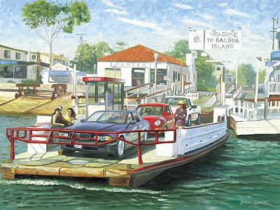 Balboa Island Ferry Print by Steve Simon