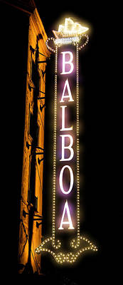 Gas Lamp Photograph - Balboa Theater by Stephen Stookey
