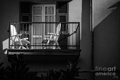Balcony Bathed In Sunlight Print by Prints of Italy