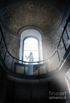 Haunted House Photograph - Balcony Ghost by Jill Battaglia