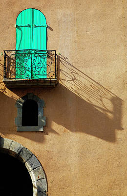 Balcony In A Collioure Street, Fishing Print by Panoramic Images
