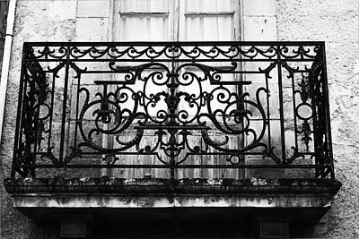 Balcony Window In South West France Print by Georgia Fowler