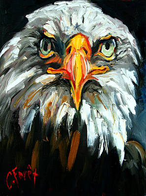 Auburn Painting - Bald And Bald by Carole Foret