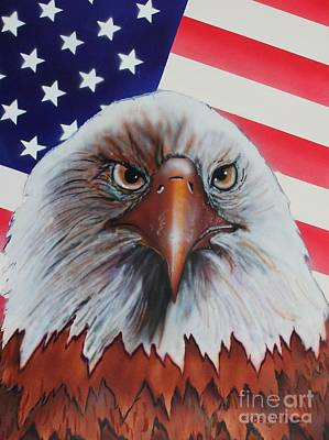 Star Spangled Banner Mixed Media - Bald Eagle by Bob Williams