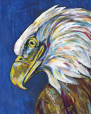 Independence Day Painting - Bald Eagle by Lovejoy Creations