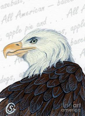 Independence Day Painting - Bald Eagle -- Proud To Be An American by Sherry Goeben
