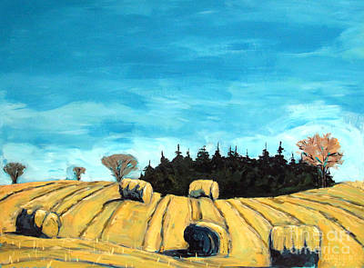 Bales Painting - Baleful Day by Charlie Spear