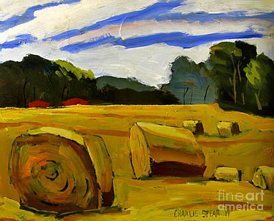 Bales Painting - Bales On The Plain by Charlie Spear