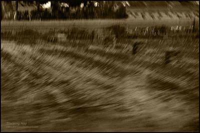 Stack Photograph - Baling Hay Near Sanfrancisco Ca by LeeAnn McLaneGoetz McLaneGoetzStudioLLCcom