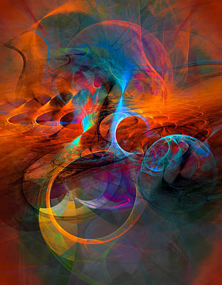 Fractal Digital Art - Ball And Chains - Abstract Art by Modern Art Prints