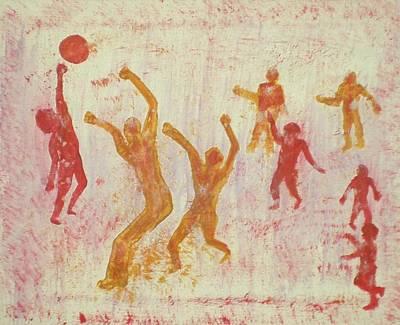 Ball Game Original by Ed Ciolina