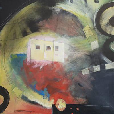 Orange Painting - Ball Return by Tim Nyberg