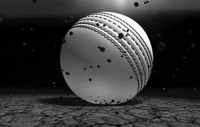 Cricket Digital Art - Ball Striking Ground by Allan Swart