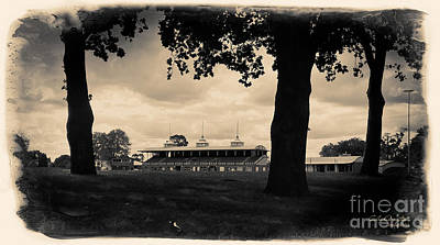 Magpies Digital Art - Ballarat Views - City Oval Grandstand by Chris Armytage