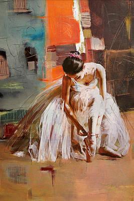 Ballet Painting - Ballerina 20 by Mahnoor Shah