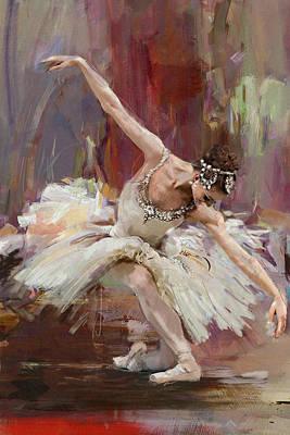Ballet Painting - Ballerina 36 by Mahnoor Shah