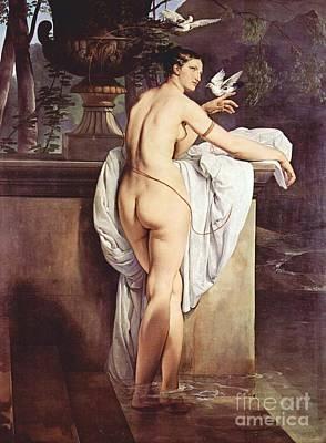 Hayez Painting - Ballerina Carlotta Chabert by Pg Reproductions
