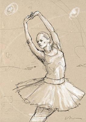 Tutus Drawing - Ballerina by H James Hoff