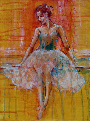 Ballerinas Painting - Ballerina In Repose by Jani Freimann