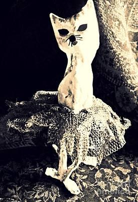 Handcrafted Mixed Media - Ballerina by Sarah Loft