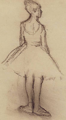 Tutus Drawing - Ballerina Viewed From The Back  by Edgar Degas