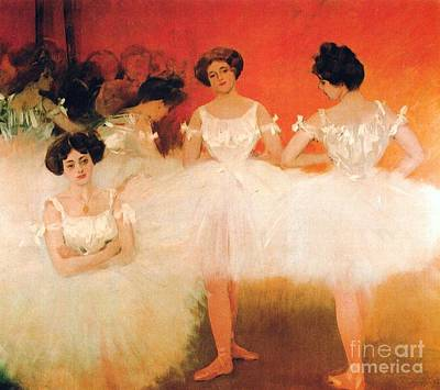 Ballet Painting - Ballerinas Resting by Pg Reproductions