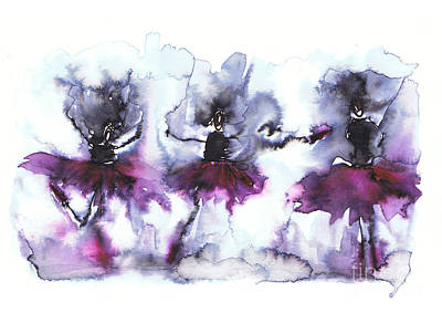 Abstract Painting - Ballet Dancers by Justyna JBJart
