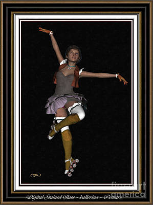Ballet On Skates 1bos2 Print by Pemaro