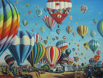 Balloon Fiesta Painting - Balloon Fiesta by Matthew Pinkey