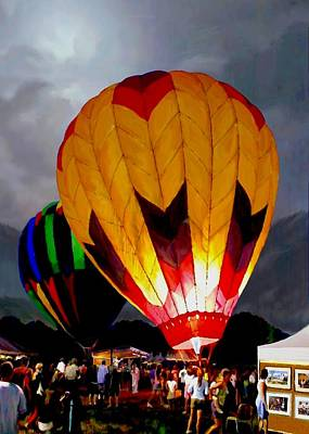 Balloon Fiesta Painting - Balloon Glow by Ron Chambers