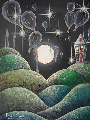 Night Angel Painting - Balloon Hospital II by Krystyna Spink