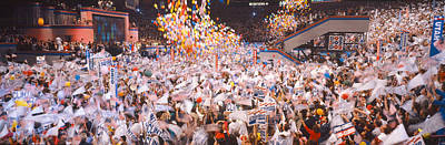 Madison Square Garden Photograph - Balloons Dropping At Democratic by Panoramic Images