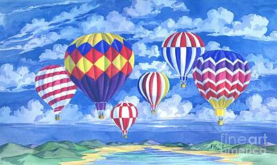 Hot Air Painting - Balloons I by Paul Brent