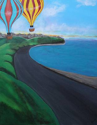 Soaring Painting - Balloons Over Sea And Sky by Karen Vaillancourt