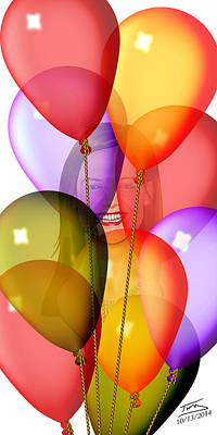 Balloons Original by Troy Brown