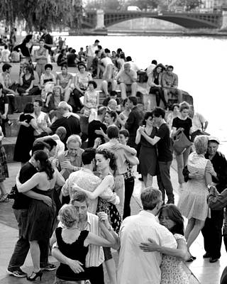 Ballroom Digital Art - Ballroom Dancing On The Seine River In Paris France by Toby McGuire