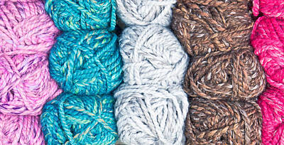Abstract Creations Photograph - Balls Of Wool by Tom Gowanlock