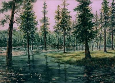 Balm Creek Reflections Print by Lynne Wright